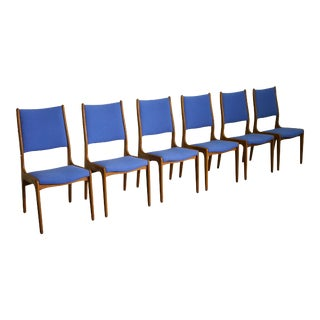 Johannes Andersen High Back Dining Chairs - Set of 6 For Sale