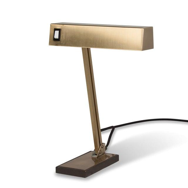 Vintage German 1960s Bronze Pivoting Desk Lamp - Image 5 of 10