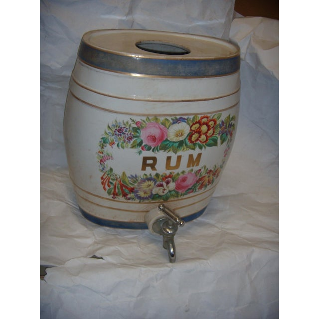 Old Ornate English Pub Porcelain Rum Dispenser - Image 3 of 6