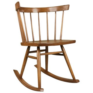 Mid-Century Modern Ercol Furniture Petite Windsor Rocking Chair For Sale