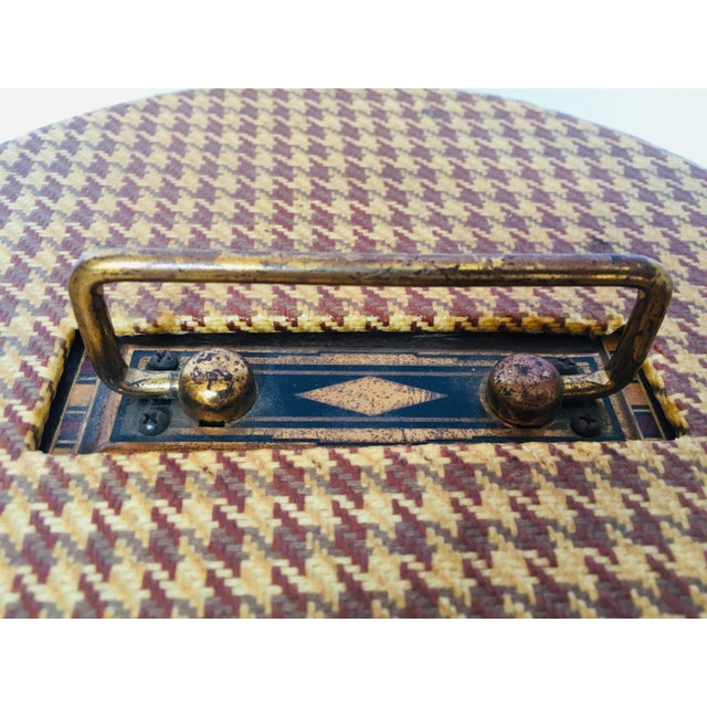 Vintage Poker Chip Carousel Wood Caddy With Cover For Sale - Image 9 of 10