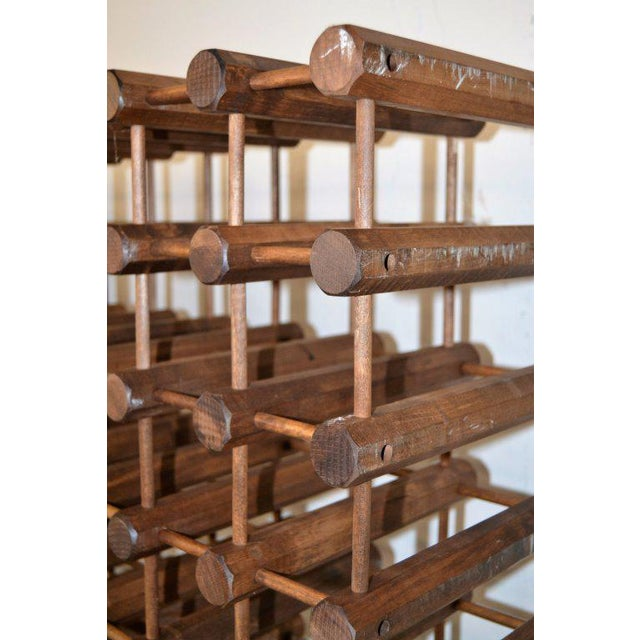 Monumental Modernist Wood Wine Rack - Image 4 of 5