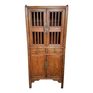 Vintage Teakwood Sideboard Hutch