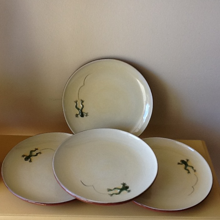 Leaping Frog Pottery Dishes - Set of Four - Image 5 of 9 & Leaping Frog Pottery Dishes - Set of Four | Chairish