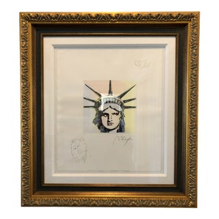 """Peter Max Etching """"Liberty Head (Dove/Profile) Classic Suite"""" For Sale"""