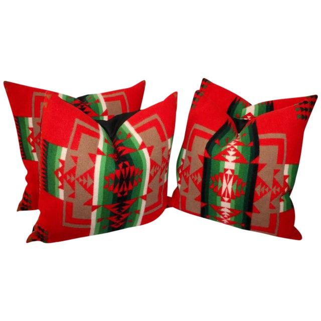 Pendleton Indian Design Camp Blanket Pillows For Sale