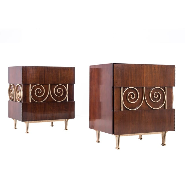 Edmund Spence Pair of End Tables or Nightstands For Sale - Image 11 of 11