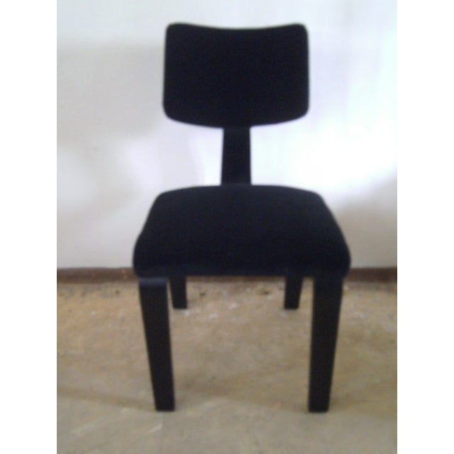 Vintage Black on Black Mohair Thonet Chair - Image 3 of 8