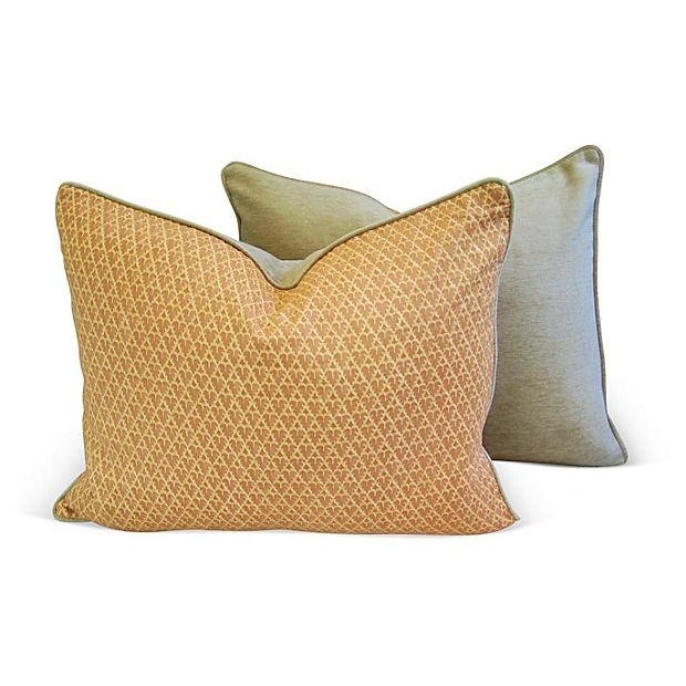 Designer Italian Fortuny Murillo Pillows - Pair - Image 3 of 7