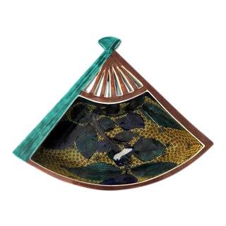 Antique Kutani Fan Shaped Bowl For Sale