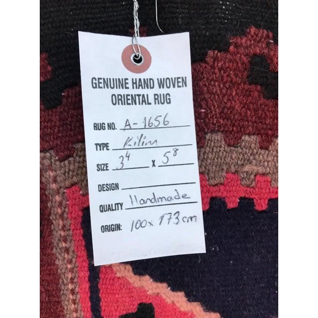 Textile 1990s Vintage Handmade East Turkey Kilim Rug- 3′4″ × 5′8″ For Sale - Image 7 of 8