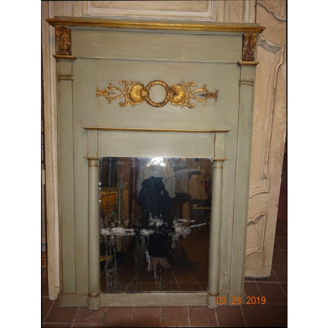 19th Century French Trumeau Mirror For Sale - Image 12 of 12