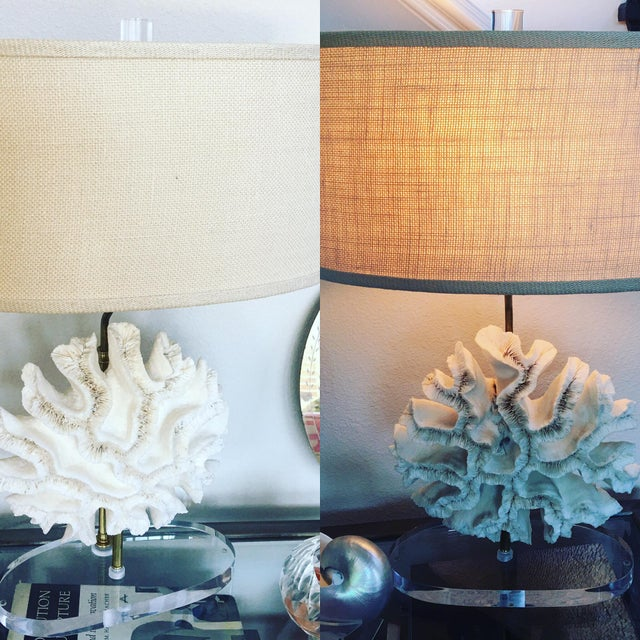 Natural Coral Lamps - Pair For Sale - Image 4 of 9