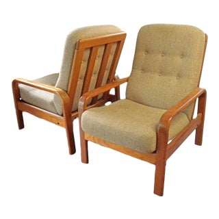 1960s Danish Modern Teak Lounge Chairs - a Pair For Sale