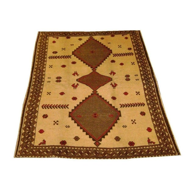 """Persian Gabeh Tribal Rug - 7'5"""" x 5'7"""" For Sale"""