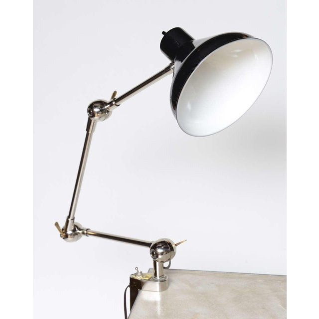 Aluminum 1940s Architectural Clamp Lamp For Sale - Image 7 of 10