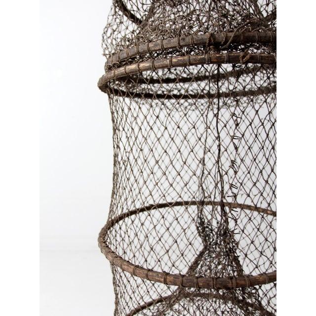 Vintage Fyke Fishing Net For Sale - Image 4 of 9