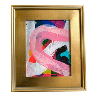 "Jessalin Beutler ""Strawberry Birthday"" 2021 Framed Painting For Sale"