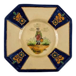 1940's Hb Quimper Decorative Plate For Sale