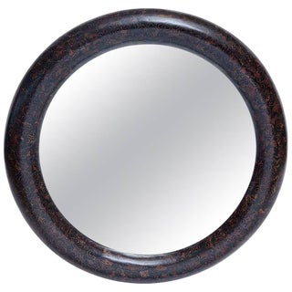 Professionally Restored 1980s Palm Root Inlaid Mirror by Enrique Garces For Sale