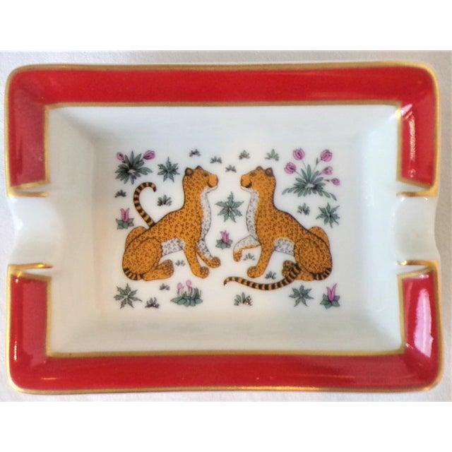 1980s Vintage Hermes Porcelain Les Leopards Ashtray / Catchall For Sale - Image 5 of 8