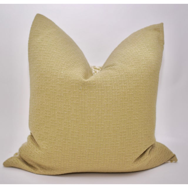 """Bassett McNab Company 22"""" Square Chenille Leopardskin Pillow For Sale - Image 4 of 5"""