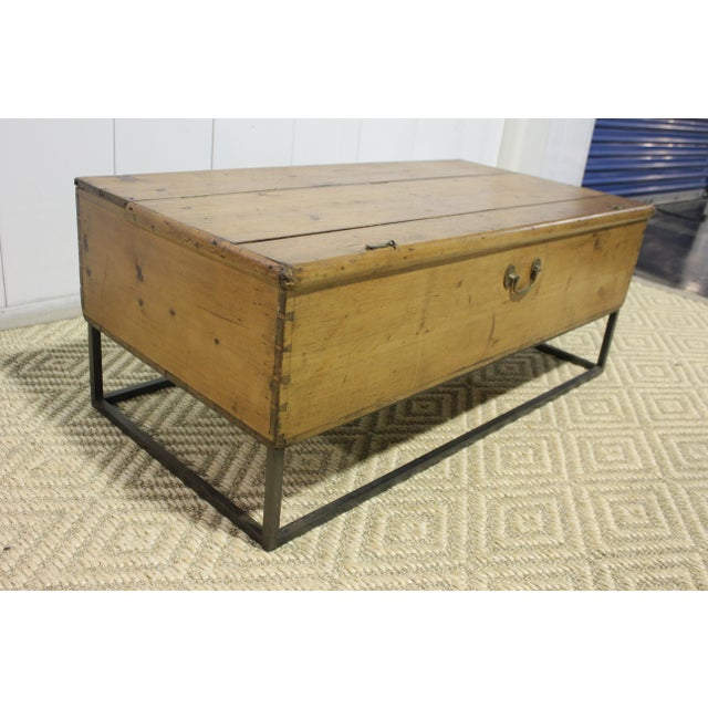French Country 1970s French Country Trunk Coffee Table For Sale - Image 3 of 8