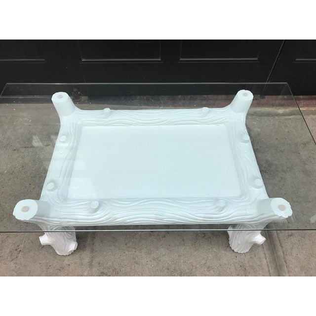 White Vintage Wood Coffee Table Manner of John Dickinson - Image 5 of 6