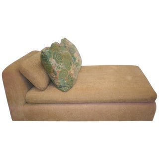 1980s Modern Chaise Chenille Longue Attributed to Steve Chase For Sale