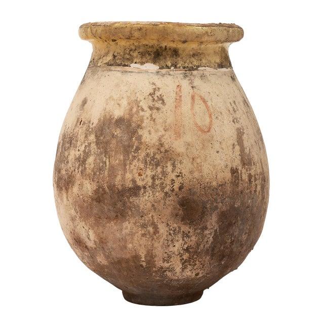 Rustic Antique Glazed Terra Cotta Urn For Sale - Image 3 of 5