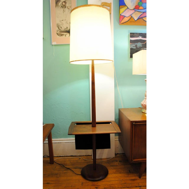 Laurel Mid-Century Floor Lamp With Table & Magazine Holder For Sale - Image 10 of 10