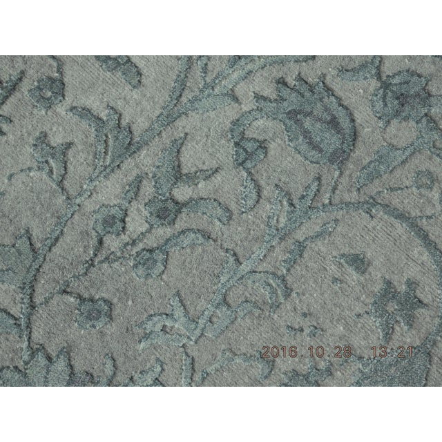 Blue & Gray Hand Knotted Indian Rug - 8′ × 10′ - Image 6 of 9