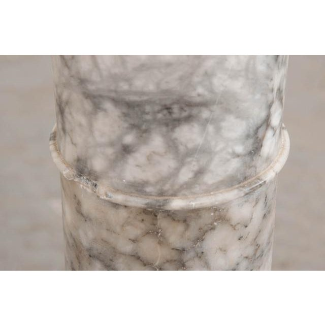 French 19th Century Grey-And-White Marble Pedestal For Sale In Baton Rouge - Image 6 of 11