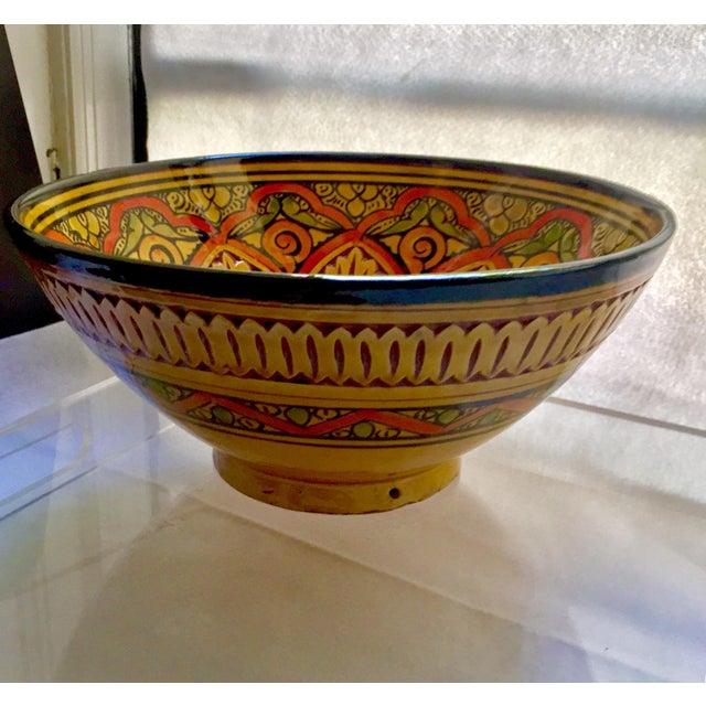 Vintage Moroccan Hand Painted Bowl From Safi Chairish
