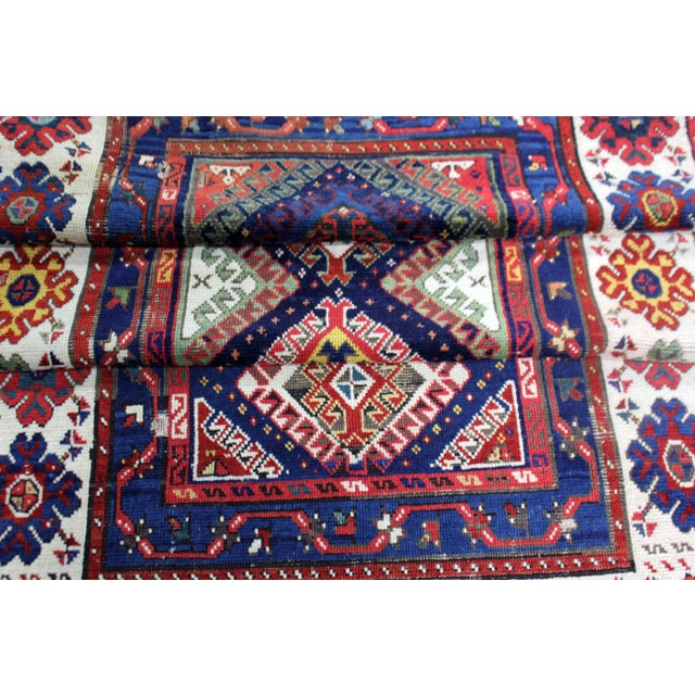 Late 19th Century Antique Hand-Knotted Talish Kazak Rug - 3′4″ × 8′4″ For Sale - Image 9 of 12