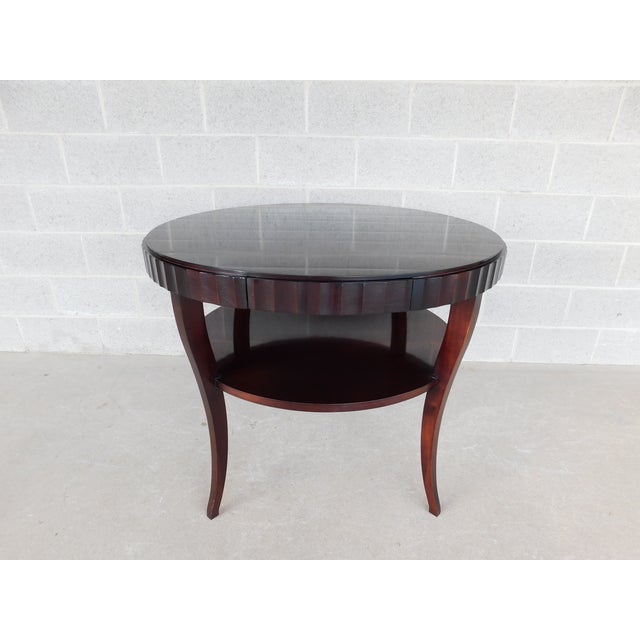 "Baker Barbara Barry Collection Mahogany Center Table 37""w For Sale - Image 9 of 9"