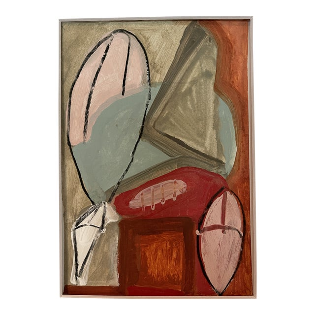 Contemporary Abstract Mixed-Media Painting For Sale