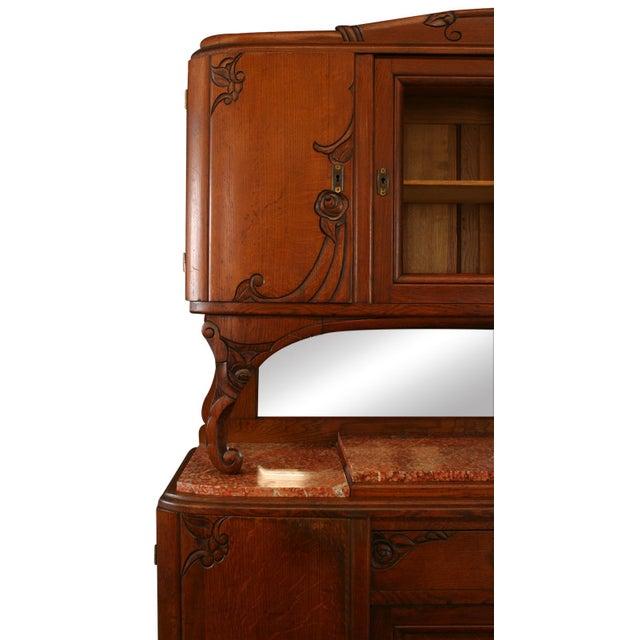 Art Deco 1920s Antique Art Deco Oak Buffet For Sale - Image 3 of 8