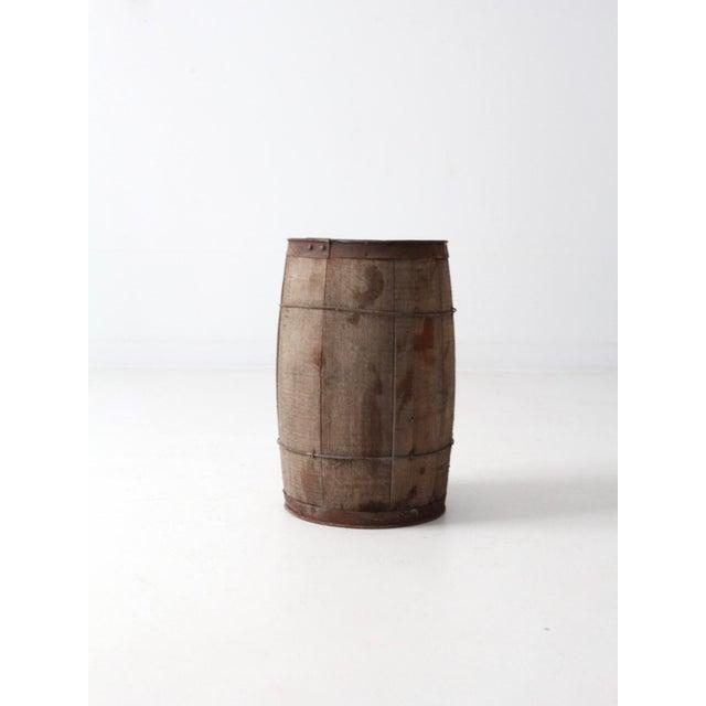 Antique Primitive Wooden Barrel For Sale - Image 9 of 9