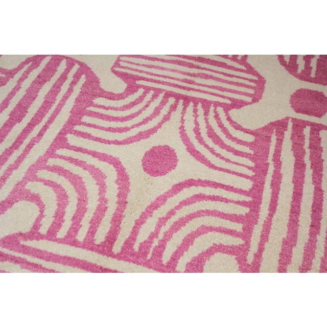 Textile 2020 Aara Rugs Pink Handknotted Wool Rug For Sale - Image 7 of 9