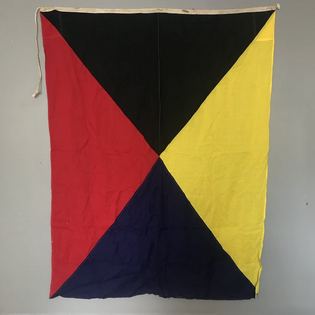 "Maritime Signal Flag ""Z"" For Sale - Image 4 of 4"