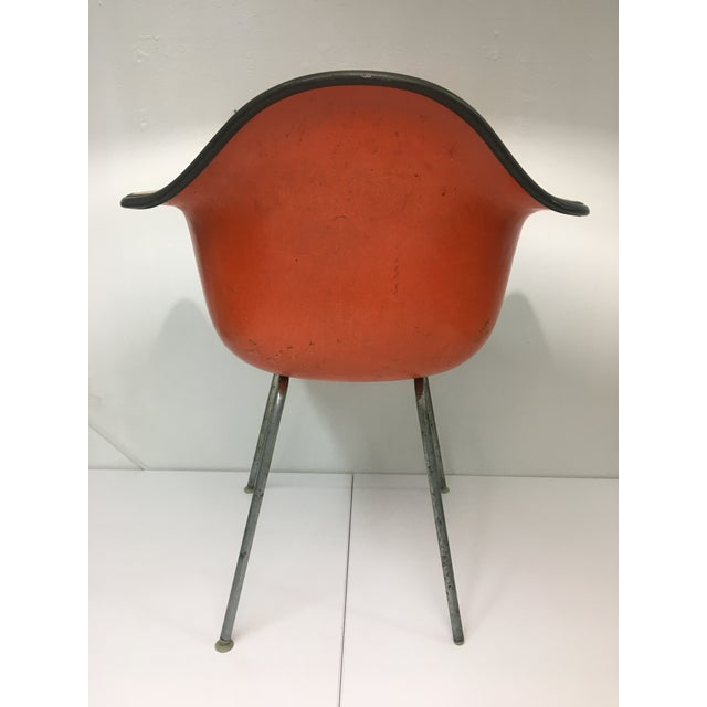 Vintage 'Dax' Armchair in Orange Naugahyde by Charles Eames for Herman Miller For Sale In New York - Image 6 of 13