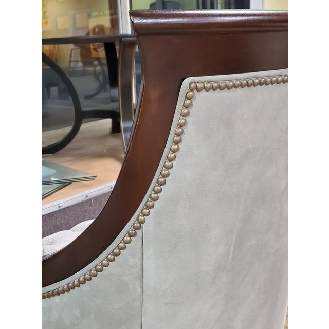 Thomasville Furniture Ernest Hemingway Anson Tufted & Leather Accent Chair For Sale In Greensboro - Image 6 of 13