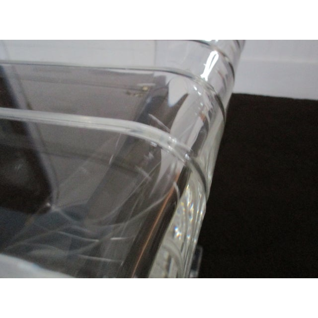 Transparent 1970s Hollywood Reegncy Lucite Z Shaped Side Table/Plant Stand For Sale - Image 8 of 13