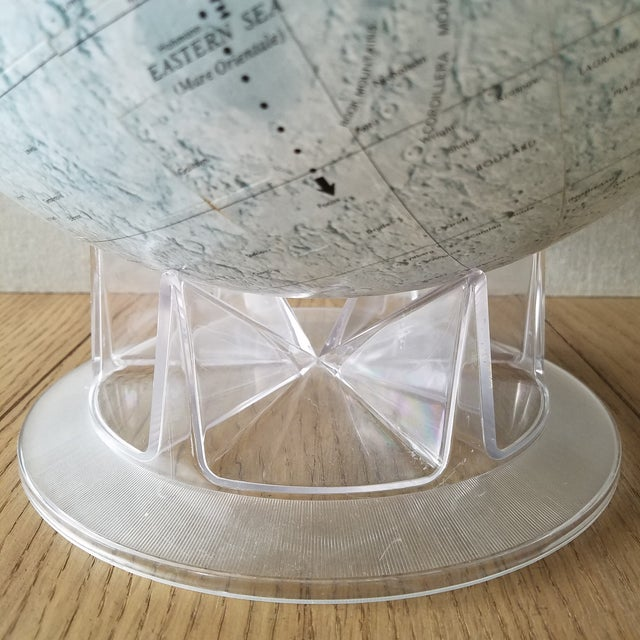 Mid 20th Century Mid Century Replogle Lunar Moon Globe For Sale - Image 5 of 10