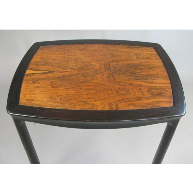 A very nice vintage 1960s occasional table by Edward Wormley for Dunbar. Beautiful details with subtly curved top and...