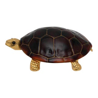 Vintage Hans Turnwald Signature Collection Turtle Covered Dish For Sale