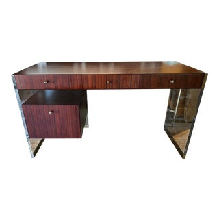 Mid-Century Modern Mitchell Gold Avalon Tanker Desk For Sale