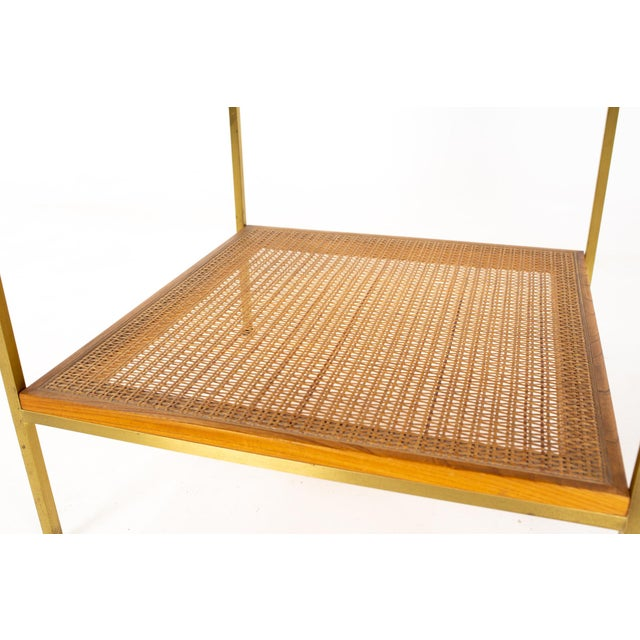 Paul McCobb for Calvin Group Mid Century Oak and Brass Nightstand For Sale - Image 12 of 13