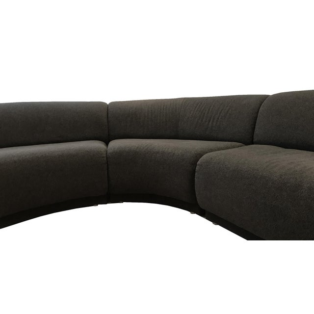 f439889929de Mid-Century Modern Milo Baughman Gray Serpentine Sectional For Sale - Image  3 of 9